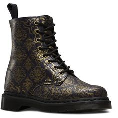 Dr. Martens Leather Pascal Boots ($105) ❤ liked on Polyvore featuring shoes, boots, victorian boots, slip resistant shoes, dr. martens, genuine leather shoes and leather victorian boots