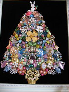 Framed Vintage Jewelry Christmas Easter by SunnyDayVintageAnnex Etsy $445