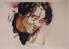 Glenn Rhee - @WalkingDead_AMC - @Steven Yeun - #terminus  Kraft Paper - China Ink - Colorex - Watercolor - Marker.