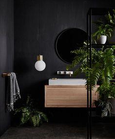 matte black bathroom