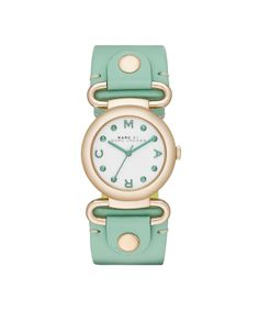 Marc by Marc Jacobs MBM1306 MOLLY green leather ladies watch, Gold