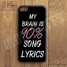 Cool Brain Song Music Cute Funny Quote Phone Case For iPhone 6 Plus For iPhone 6 For iPhone 5/5S For iPhone 4/4S For iPhone 5C-5 Colors Available