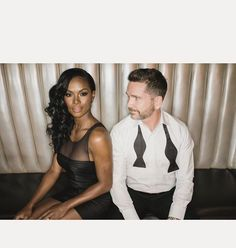 Flawlessly gorgeous interracial couple at a black tie event #love #wmbw #bwwm #swirl