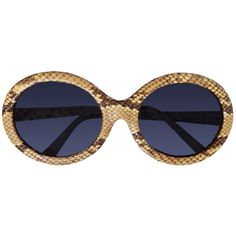 """Christian Roth for Optical Affairs Luxury and Rare Vintage Collectible Sunglasses """"Series 4001"""" Genuine Python"""