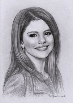 Selena Gomez als portret