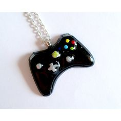 Black Xbox Controller Necklace Gamer Girl Nerdy Jewelry Geeky Jewelry... ❤ liked on Polyvore featuring jewelry, necklaces, nickel free necklaces and nickel free jewelry
