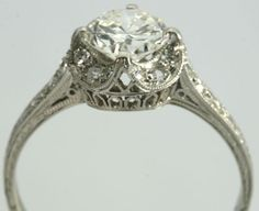 Ornate, intricate, vintage, antique, victorian engagement ring