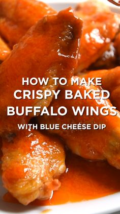Skip the oil and fryer and make easy baked chicken hot wings instead. Skip the oil and fryer and make easy baked chicken hot wings instead. Buffalo Chicken Recipes, Chicken Wing Recipes, Baked Buffalo Wings, Oven Baked Wings, Chicken Wing Sauces, Keto Chicken Wings, Thai Chicken, Wings In The Oven, Easy Baked Chicken