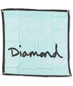 Diamond Supply Co Og Logo Diamond Blue Black Banner