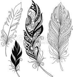 Peerless decorative feather vector on VectorStock&regRisultati immagini per mandala feather drawing Feather Drawing, Feather Art, Feather Design, Tattoo Feather, Indian Feather Tattoos, Feather Painting, Drawing Drawing, Mandala Feather, Mandala Tattoo