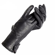 Item Type:Gloves Gloves Length:Wrist Material:Cotton,Genuine Leather Item Type::Gloves Style:Sexy gloves Types of:Warm gloves Winter Accessories, Leather Accessories, Black Leather Gloves, Butterfly Decorations, Leather Fashion, Ladies Gloves, Women's Gloves, Stylish, Lady