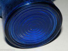 Vintage Cobalt Blue Glass Retro Tobacciana Top Hat Styled Ashtray Cigarettes | eBay