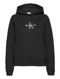 Glitter Monogram Hoodie (Ck Black) (660 kr) - Calvin Klein Jeans - | Boozt.com Monogram Hoodie, Calvin Klein Jeans, Cute Outfits, Sweatshirt, Glitter, Hoodies, Sweaters, Clothes, Black