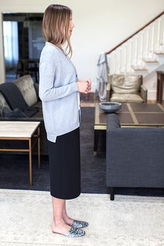 Midi Wrap Skirt - Jet Double-faced   Emerson Fry