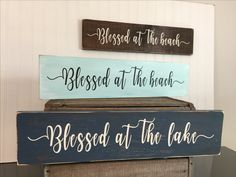 *What a simplistic and pretty accent for your coastal home, lake house or getaway place!