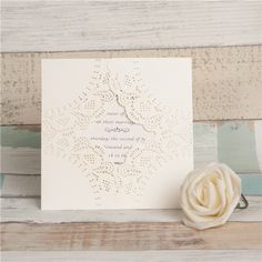 Doily inspired laser cut invitation #wedding #lasercut #invitation #weddinginvitation #laser #doily