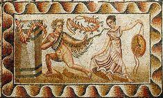Roman mosaic from Villa del Tellaro, Sicily.
