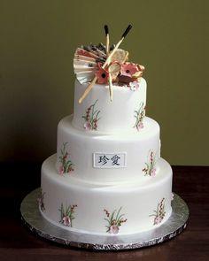 an oriental theme cake, gorgeous