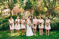 pink dress bridesmaids