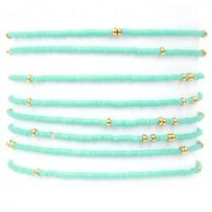 Manchette perles Alexandra Margnat | Manchette perles turquoise