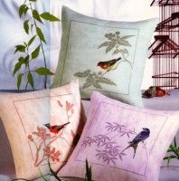 "Gallery.ru / embroidery - Альбом ""Три подушки с птицами"""