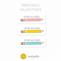 Valentines Gift Tags. Kids School Valentine's. Funny Valentines. Custom Personalized Valentines Day Tags. Instant Download Valentines.