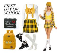 """""""First Day of School 😀"""" by ragnh-mjos ❤ liked on Polyvore featuring Rosetta Getty, MARA, Vans, Balenciaga, Moschino and Ray-Ban"""