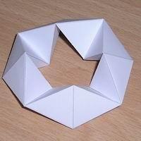 Paper model octagonal kaleidocycle