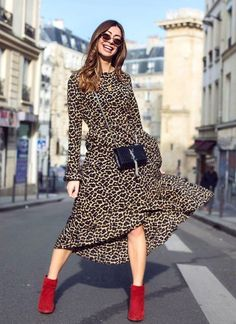 f95c0e74255ca Catchy Outfits For Early Summer · Leopard Print Dress OutfitAnimal Print  Maxi ...