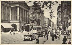 Lata 1930-1936 , Ulica Świdnicka w latach 30.Tramwaj typu Linke Hofmann