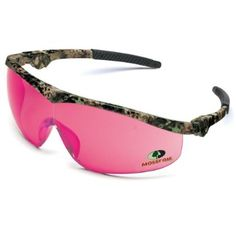 Amazon.com: WOMENS, LADIES, GIRLS Crews Mossy Oak Storm PINK AND CAMP Safety BAD TO THE BONE Glasses - Camo Frame - Pink Lens (INCLUDES FREE...