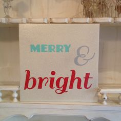 Merry & Bright Wood Sign, Christmas Wood Sign, Holiday Wood Sign, Typography Christmas Wood Sign by NotJustSigns on Etsy