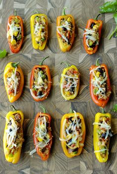 Quinoa Mini Stuffed Peppers | Eat Yourself Skinny! | Bloglovin'