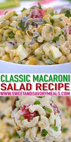 Easy Macaroni Salad Recipe – Sweet and Savory Meals Macaroni Salad is a refreshing take on pasta that you can bring to parties and getaways this summer! It is simple to prepare with easy-to-find ingredients. Easy Macaroni Salad, Classic Macaroni Salad, Sweet Macaroni Salad Recipe, Macaroni Salad Ingredients, Chicken Macaroni Salad, Shrimp Pasta, Chicken Salad, Healthy Meals To Cook, Good Healthy Recipes