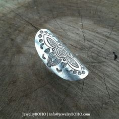 BOHO 925 Silver Ring-Gypsy Hippie Ring,Bohemian style,Statement Ring R017 JewelryBOHO,Handmade 925 Sterling silver BOHO Tribal ring