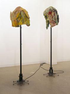 Isa Genzken, 'Haube I (Frau) / Haube II (Mann)', 1994 Epoxy, varnish, fabric, steel and electric motor 2 parts, 260 x 70 cm ea Courtesy the artist and Hauser & Wirth