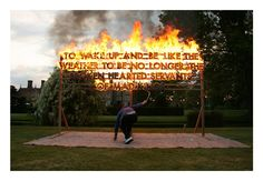 GREAT FOSTERS FIRE POEM. Fire Poem. Great Fosters, England. 2010