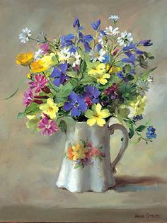 Anne Cotterill (1933-2010) ––  Wild Flowers in the Victorian Jug   (598x800)