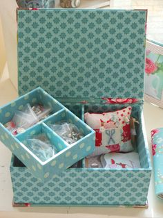 "Diy Cardboard Kit For Making A Jewellery Or Sewing Box Of 8.5"" X 6.1"" X 3.4""…"