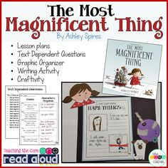 "Teach perseverance and grit with ""The Most Magnificent Thing."" Great back to school lesson plans. Elementary School Counseling, Career Counseling, The Most Magnificent Thing, Text Dependent Questions, Character Education, Physical Education, Writing Activities, Language Activities, Learning Resources"