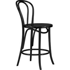 Vienna Black Barstool in Barstools   Crate and Barrel  $179