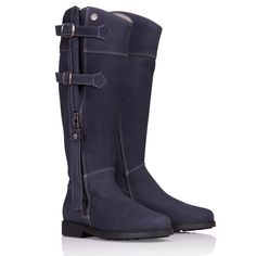 Our Lucianna boots are made from soft Italian Nubuck leather and provide a combination of beautiful European styling with a refreshingly different design; Soft Leather, Leather Boots, Shooting Clothing, Country Lifestyle, Winter Socks, Italian Women, Cool Countries, Country Outfits, Deep Blue