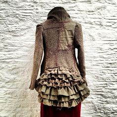 Autumn/Winter 2013 | Flickr - Photo Sharing!-Layers of recycled suit coats for bustle. Perhaps use blankets, skirting, etc. Maintain same weight and drape.