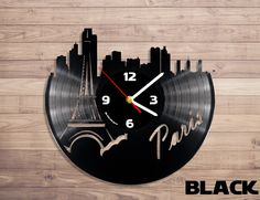 Amazon.com: Paris vinyl record wall clock: Home & Kitchen