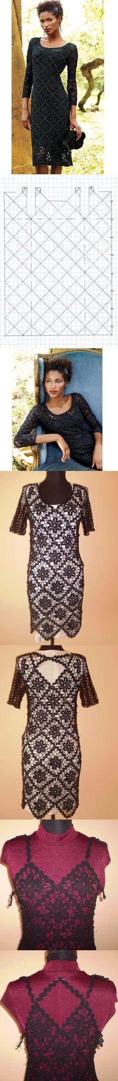 Use continuous squares pattern instead of individual Conexão peruana Crochet Bolero Pattern, Crochet Cardigan, Knit Dress, Crochet Patterns, Dress Pants, Crochet Woman, Diy Crochet, Crochet Top, Crochet Squares
