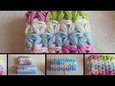 Como / Punto Jazmín en crochet de manera circular paso a paso / punto fantasía - YouTube