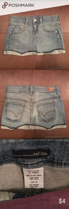 Refuge denim mini skirt Refuge denim mini skirt. Good condition. Only worn a few times. refuge Skirts Mini