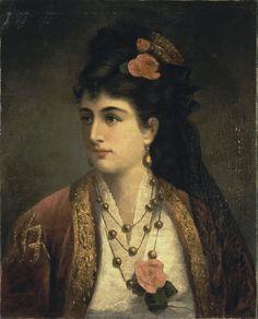 Adele Riche  Portrait of Natalia Obrenovich, Queen of Serbia