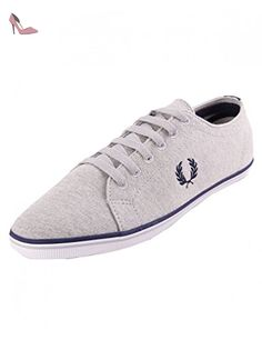 Fred Perry Vintage Tennis Canvas Navy Mens Trainers Size 42 EU mkDPPF