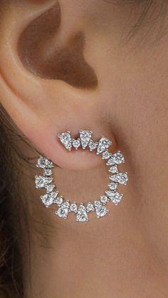 Vir Jewels cttw Certified Diamond Stud Earrings White Gold with Screw Backs – Fine Jewelry & Collectibles Ear Jewelry, Diamond Jewelry, Gold Jewelry, Diamond Earrings, Jewelry Accessories, Fine Jewelry, Jewelry Design, Jewelry Making, Jolie Lingerie